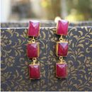 Dyed ruby danglers gee00351