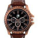 Jm 1001 Brown Leather Analog Watch