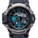 Chronograph Blue Black Dual Watch Analog - Digital