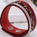 Crystal Studded Red Bracelet