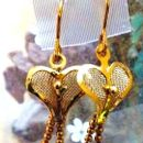 CC Gold plated heart shape jhumkis
