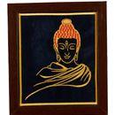 P K Buddha Art Wall Hangings Frame (Embroidered)