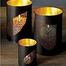 3 Pcs Set of Leaf Designer Candle Lamp for Home Decor