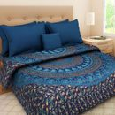 Jaipuri Traditional Bed sheet with 2 Matching Pillow Cover_MT12043