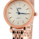 Rose Gold Chain Analogue White Dial Women's Watch