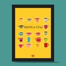 Mehfil-e-tea Photo Frame/Wall Art (Yellow)