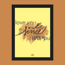 Love you since I met you Photo Frame (Brown/yellow)