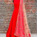 varniraj online  designer dark Red embroidered silk Anarkali suit