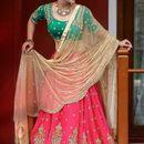 varniraj online Diwali Special designer rani and green Embroidered bridal lehenga