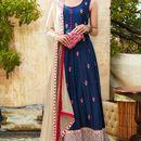 varniraj online  designer blue long  embroidered Anarkali suit