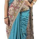 Abhi Silks Self Design Fashion Handloom Cotton Saree  (Multicolor)