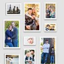 Swadesi Stuff MDF Photo Frame  (White, 9 Photos)