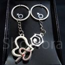Two Heart & Key Shape Couple Keychain For Him & Her Best Collectible & Gift Item