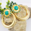 DESIGNER TURQUOISE COLOR PARTY WEAR EARRINGS JEWELRY