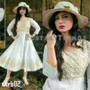 White Kora Silk Anarkali