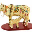 Shreenath Handicrafts Multicolor Beautiful Handicrafted Cow