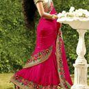 Designer Bollywood Ethnic Pink Saree Party Wear Sari Traditional