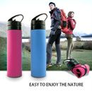 Rolling Squeeze eco friendly silicone bottle for travel and trekking