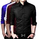 US PEPPER ROYAL, WHITE, MEHROON AND BLACK DOTTED SHIRTS (PACK OF 4)