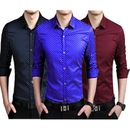 Mens Nevy Blue, Mehroon and Royal blue partywear/casual/formal dotted shirts (Pack of 3)