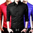 Mens Black, Red, Royal Dotted Shirt (Pack of 3)