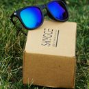 Blue Mirror UV Protected Wayfarer Sunglasses for Men (Rubber + Metal)