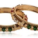 chudiwala fancy polki bangles 2 pc (sku_polki-s 2pc-011,pack of 2 pc, size available22,24,26,28)
