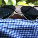 Foxy Men's  black aviator sunglass