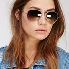 Sunglasses Brown Aviator Goggles FOr WOmen