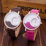 BROWN AND PURPLE COMBO DESIGNER WATCH FOR WOMEN WITH EXTRA BATTERY FREE