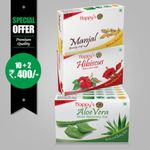 Happy's  Aloe vera   Soap (Pay for 10 Get 12 Combo Offer)