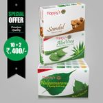 Happy's Nalpamaram Soap (Pay for 10 Get 12 Combo Offer)