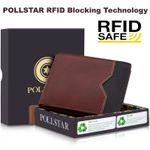 POLLSTAR Bifold RFID Blocking technology men's Wallet (WL63BN)