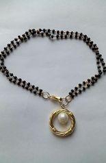 Hand Mangalsutra Bracelet Pearl Frame2