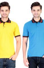 Cofagif Polo Yellow Men's T-shirt Combo of 2