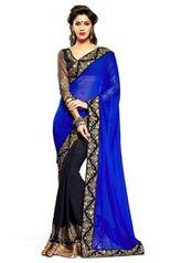 Glam Elegance Beautiful Blue Nakasi Saree