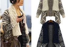 stylish knitted poncho (off white)