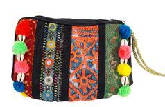 BANJARA BAG,INDIAN VINTAGE AFGHANI DRESS BAG BOHO GYPSY TRIBAL MIRROR WORK TASSELS POM POM HANDMADE BAG,BANJARA HANDBAG,KUTCHI BAG, ETHNIC
