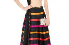 women new look blackcolor lehenga