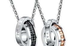 Tremendous Love Valentine High Quality Titanium Couple Chain (2 qty) For Love Birds By Stylish Teens