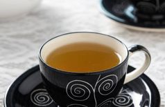 Designer Black Handpainted Ceramic Mug (175 ml, Pack of 12)