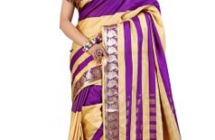 Sharnam Sarees?s Latest Fancy polycotton saree with Blouse Piece_019