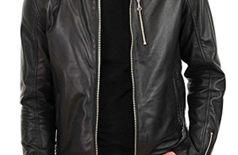 Men's Lambskin Leather Jacket Bomber Biker Motorcycles Jacket