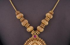Gold plated Laxmi necklace set