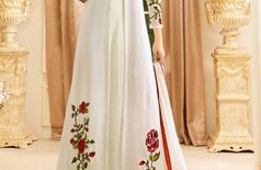 White Georgette Jacket Style Suit