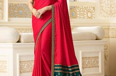 Sana Silk Designer Saree In Pink Colour (1000)