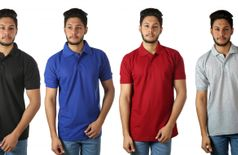 Kristof polo neck T-shirts pack of 4