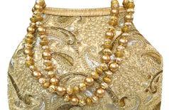 Bhamini Ever Instyle Batwa Potli ( Gold)
