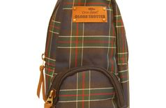 GLOBETROTTER CLASSIC MINI BACKPACK ACCESSORY CASE NAVY BLUE CHECKS
