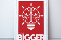 Think Bigger Framed Poster | Inspirational Wall Art - 14